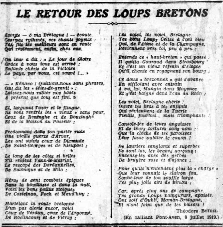 Retour des loups bretons Botrel