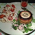 Panier feuilleté sauce poivron-cumin, jambon et babybel en croûte