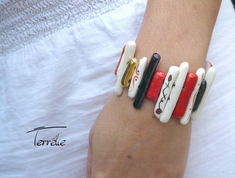 bracelet porcelaine barrettes