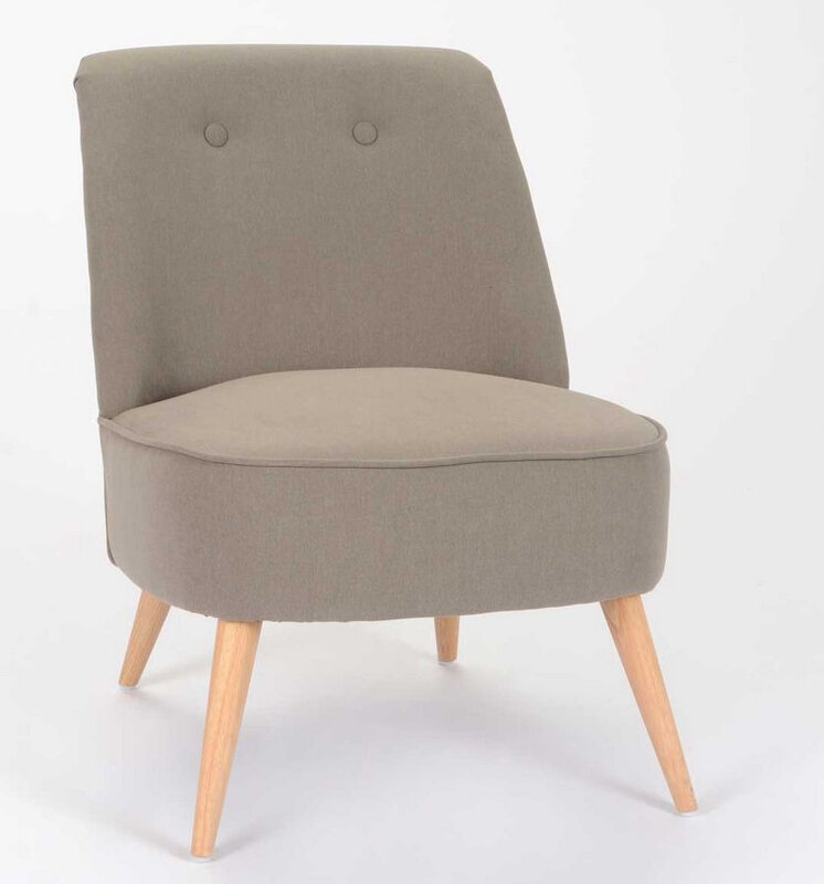 Fauteuil scandinave taupe