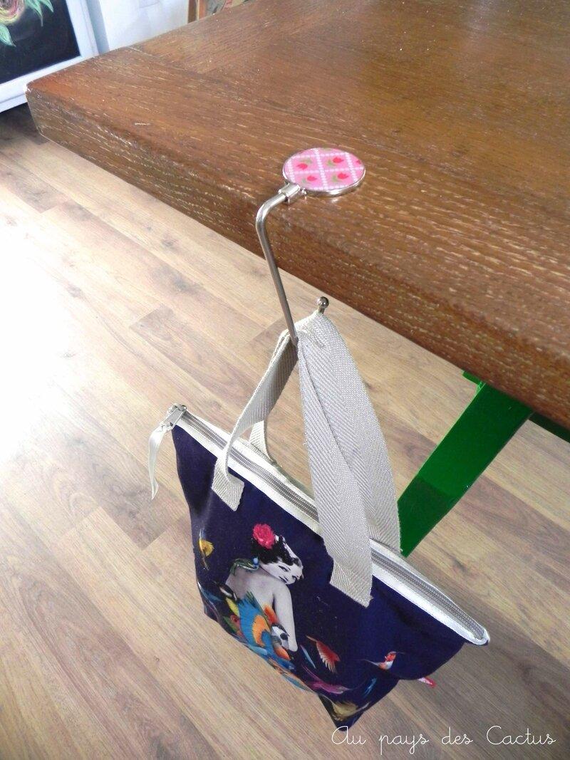 Accroche sac customisé Fifi Mandirac DIY Au pays des Cactus 2