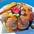 Recette du gâteau moelleux à la cannelle, aux fruits secs et confits , aux cranberries et à la poudre de graviola corossol.