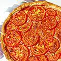 Tarte toute simple à la tomate