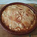 Pot pie d'agneau aux tomates aux olives et citrons confits