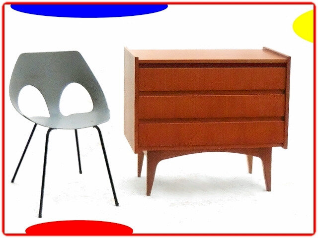 commode design danois teck vintage 1960