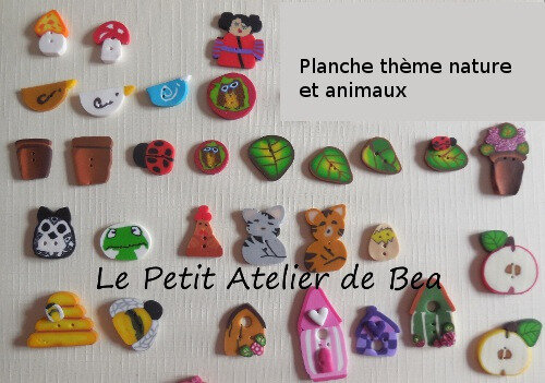 boutons nature et animaux
