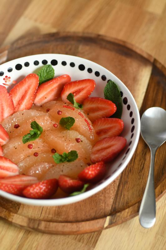Salade de fruits pamplemousse & fraises_3
