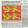 Deux leopards normands: rouen prefecture caen executif du conseil regional