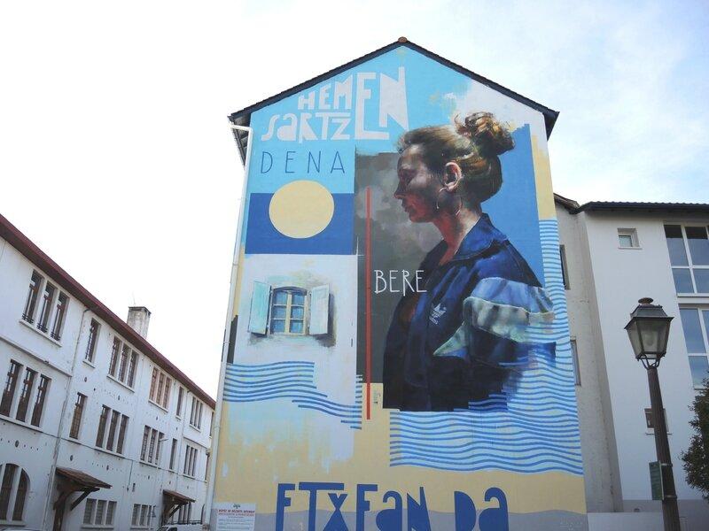 Bayonne, Street Art Point de Vue, fresque, Sebas Velasco Xabier Anunzibai