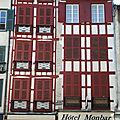 Bayonne, Petit Bayonne, rue Pannecau, hotel Monbar (64)