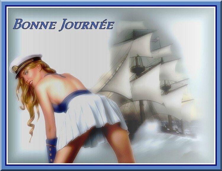 femme et bateau bj