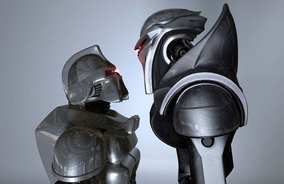 Original_Cylon_meets_new_Scifi_Channel_Ron_Moore_Cylon_Razor_gary_hutzel