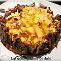 Tarte mangue, banane, chocolat