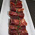 Rouleaux de viande des grisons à la ricotta