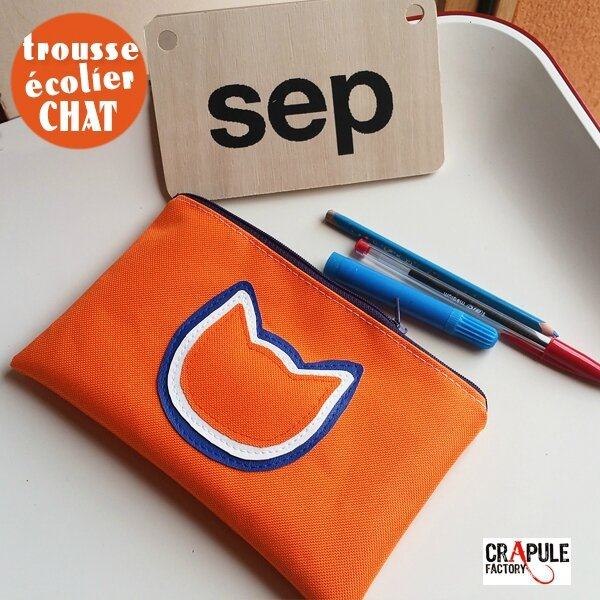 grosse-trousse-ecolier-chat-originale-pop-orange-applique-3-chats-superposes-bleu-blanc-orange-zip (2)