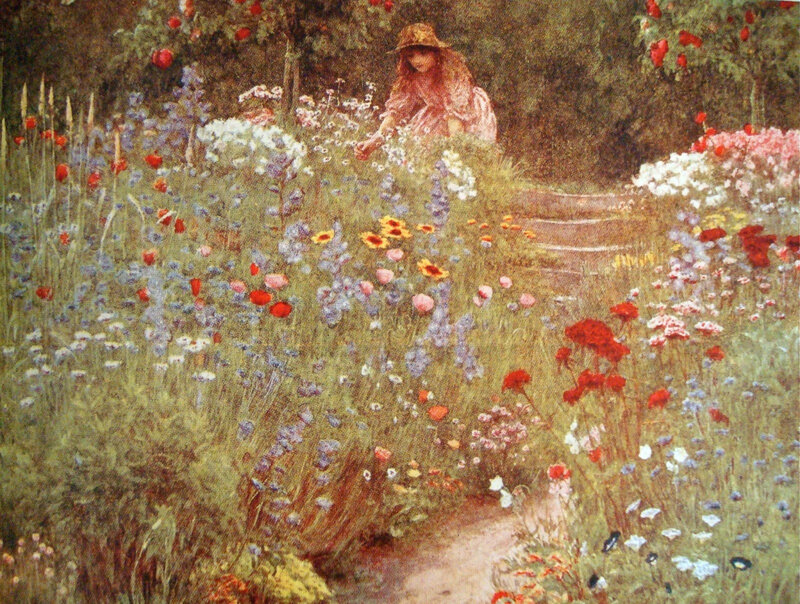 Helen Allingham English cottage garden