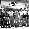équipage de l'Enola Gay fier de lui