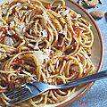 Spaghettis inspirés d'yvan cadiou