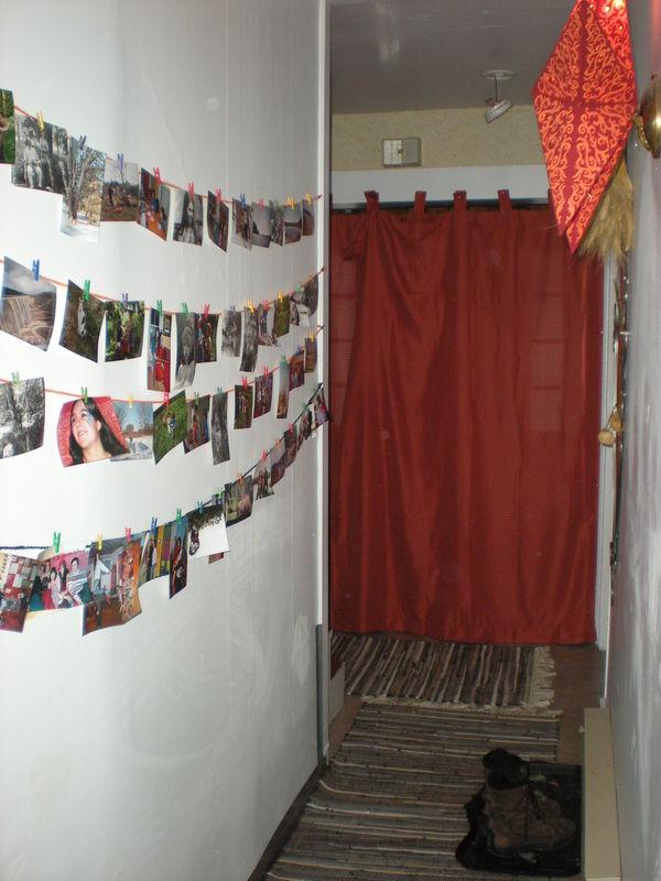 Le Couloir Avec Les Rideaux Isolants Pour Lhiveeer Photo De Notre