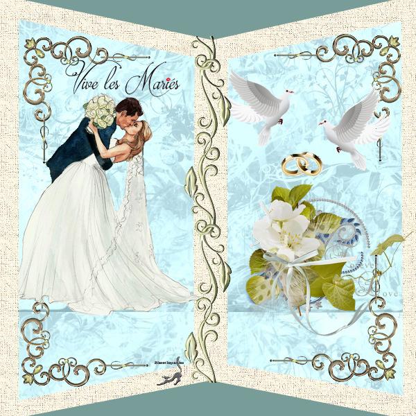 Carte de Mariage création Minouchapassion