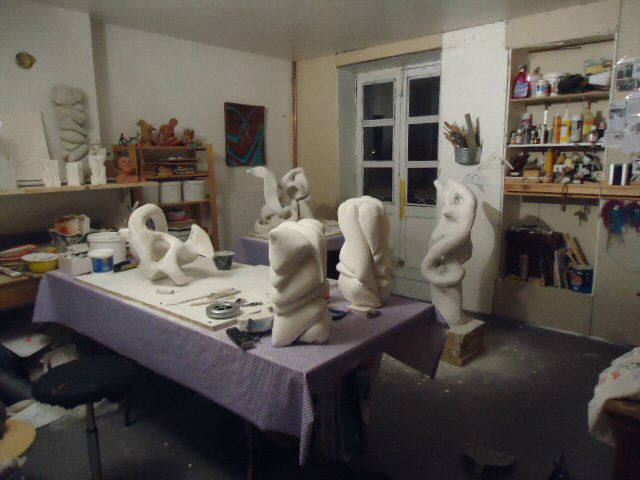 sculpture en preparation 1