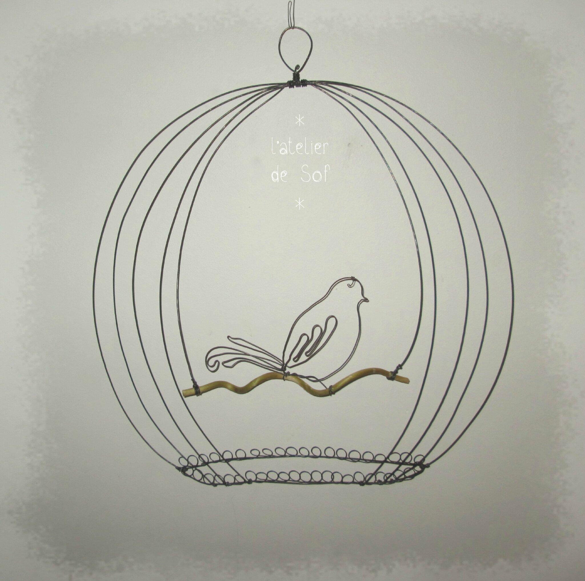 oiseau cage 2 dimensions