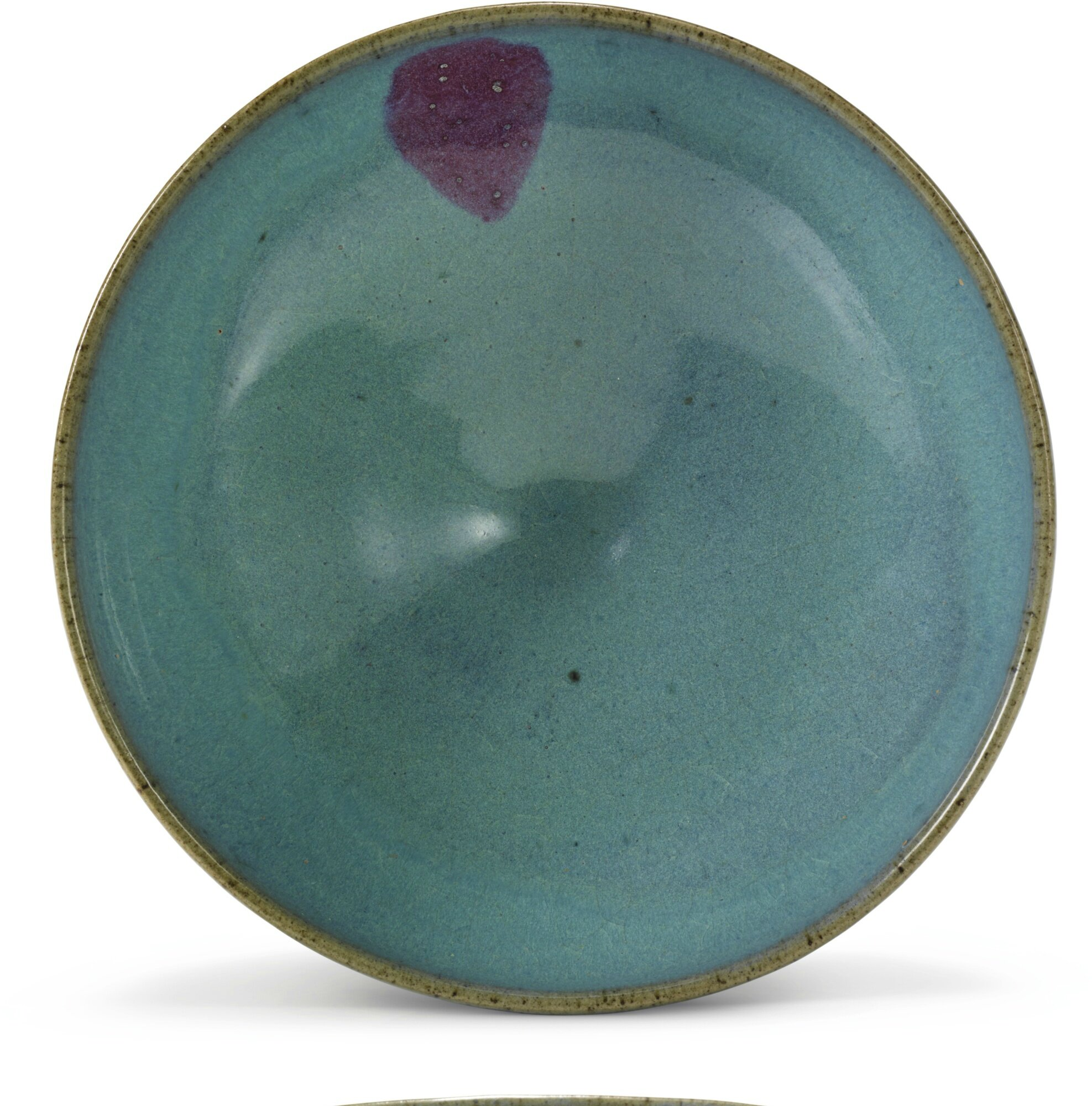 A large 'Jun' purple-splashed bowl, Yuan dynasty