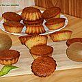 Muffins de kiwi aux amandes