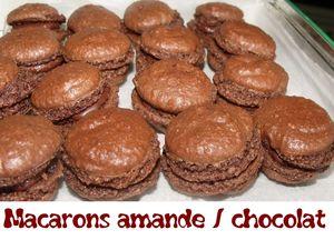 macarons amande chocolat