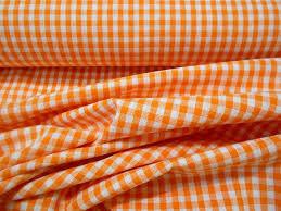 """Résultat de recherche d'images pour """"tissu vichy orange"""""""