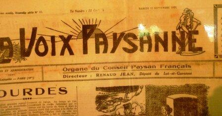conseil paysan français