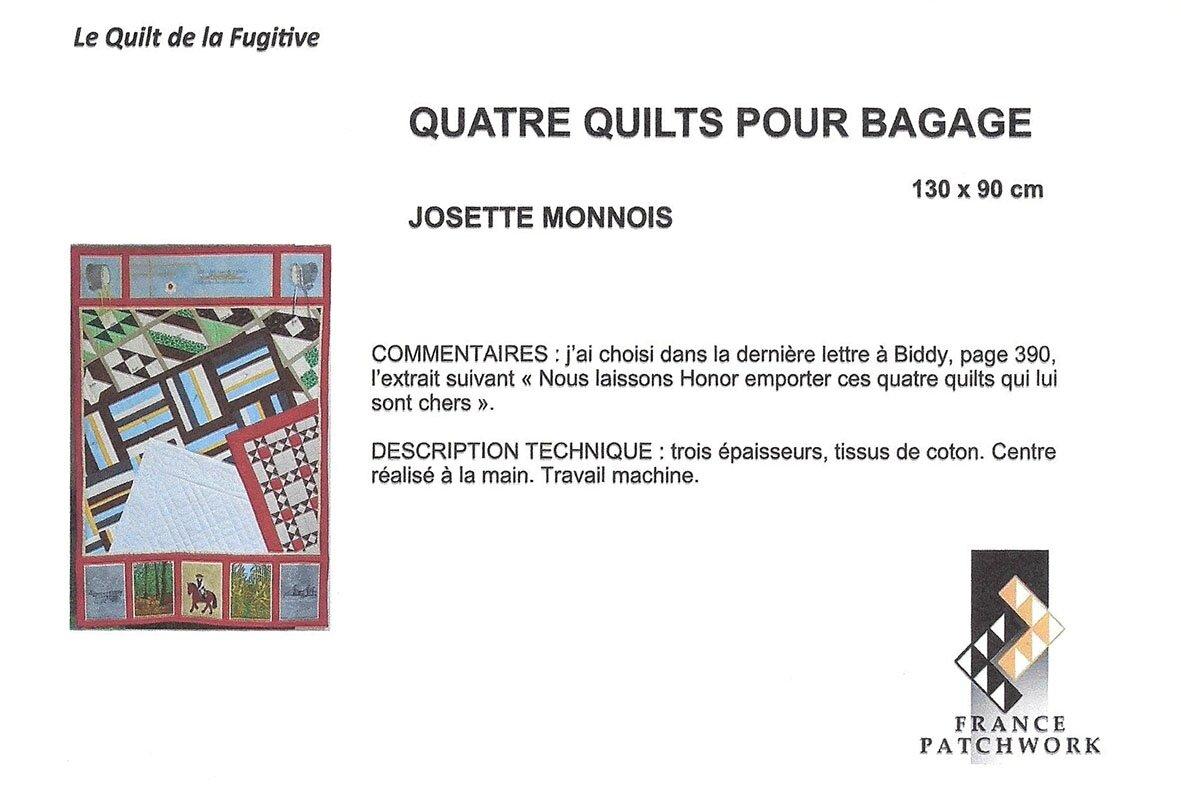 24-Josette MONNOIS-QUATRE QUILTS POUR BAGAGE-Quilts la Fugitive 24