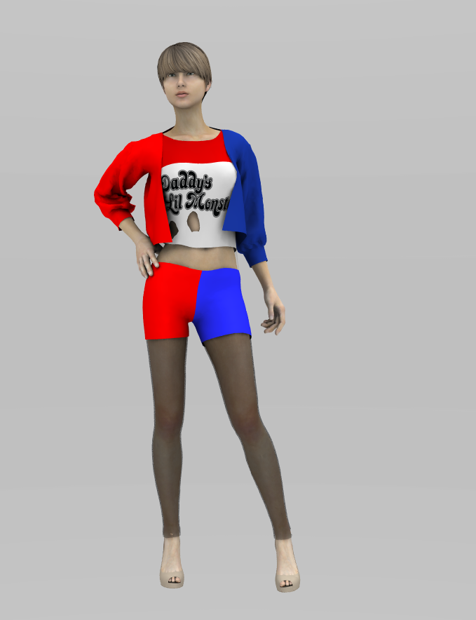Harley Quinn's outfit (Daddy's Lil Monster) Suicide Squad