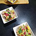 Tartare au saumon et crabe à la mangue