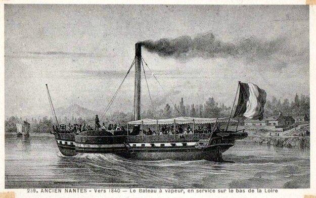 Ancien Nantes - bateau à vapeur