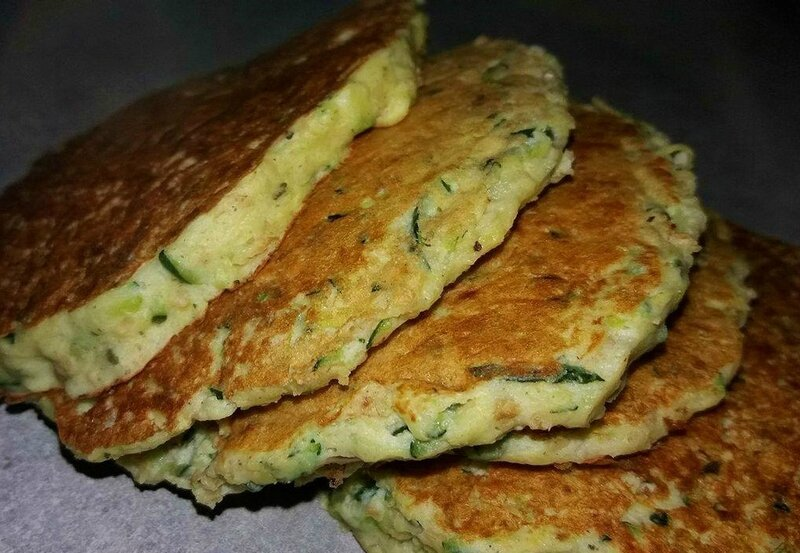 Pancake courgette ricotta