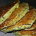 Pancake courgette ricotta