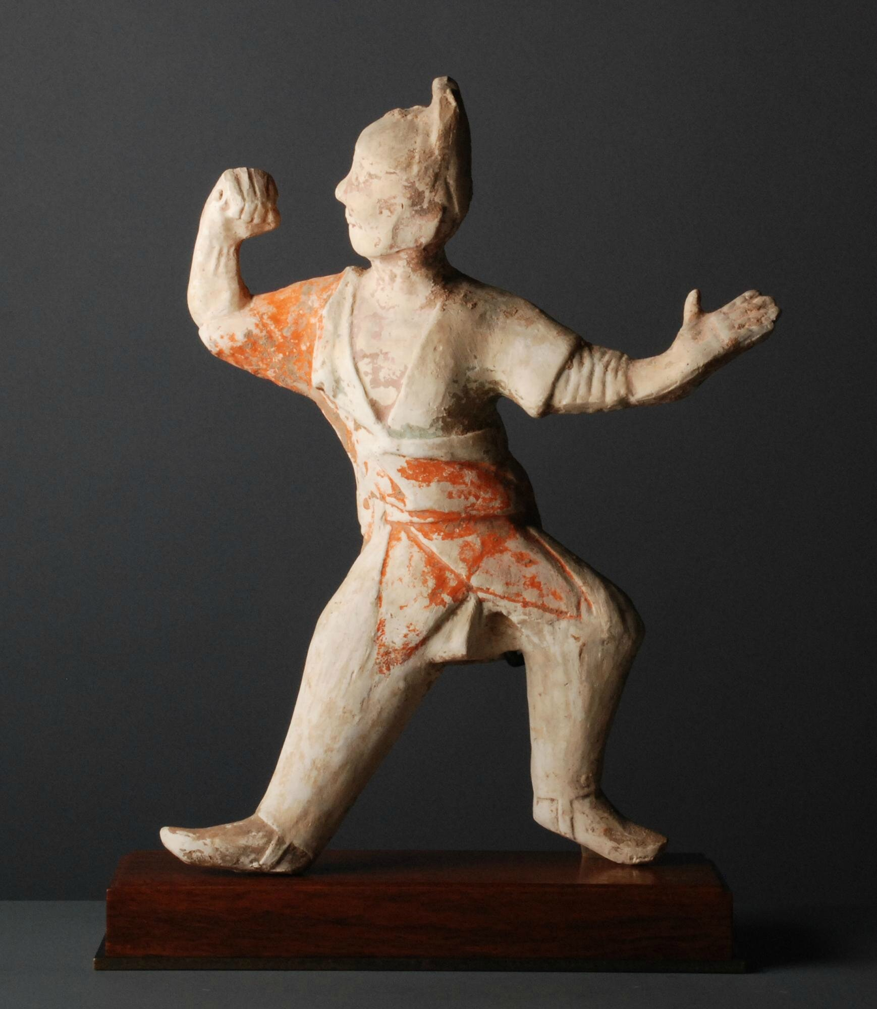 Pottery Figure of a Male Dancer, China, Tang Dynasty (618-907)
