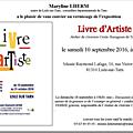Exposition au musée raymond lafage, vernissage 10 septembre.