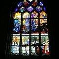 Vitrail du transept coté sud