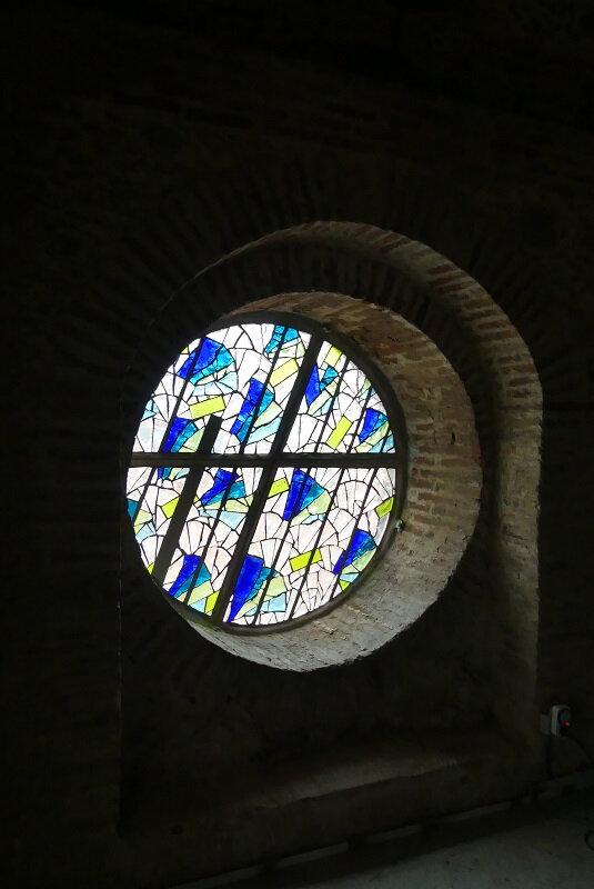 Oculus Le Vent - Vitrail en dalle de verre - Oculus - Clotilde Gontel - Le vent