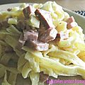 Tagliatelles jambon-fromage (cookeo)