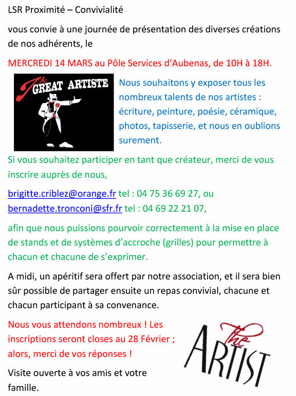Journée des artistes LSR du 14 Marsblog01
