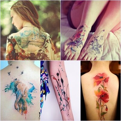 Tatouage Aquarelle Myfashionlove
