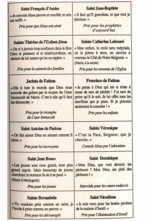 Saints et Saintes 2