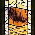 Création de vitraux abstraits