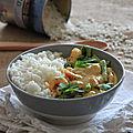 Curry de crevettes - pistou de coriandre