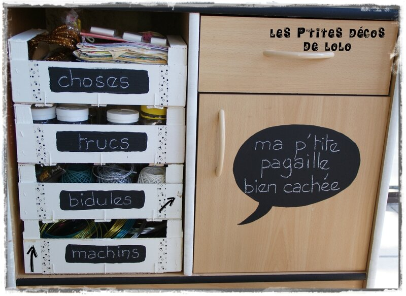 diy rangement fut pour bureau ou atelier cagette cagette les p 39 tites d cos de lolo. Black Bedroom Furniture Sets. Home Design Ideas