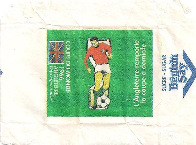 Emballage de sucre CM Football Angleterre 1966