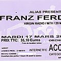 Franz ferdinand - mardi 17 mars 2009 - olympia (paris)